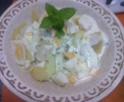 Salada de batata com hortelã