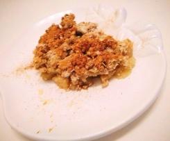 crumble de maça saudável