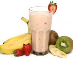 Batido de Proteína e frutas cozidas