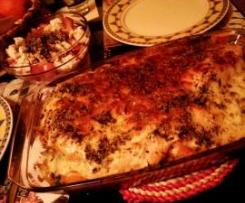 Peitos de frango pizzaiola (em cama de bróculos)