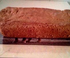 Pão integral de trigo com flocos de aveia