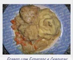 Frango com Espargos e Cenouras