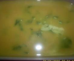 sopa de agriões