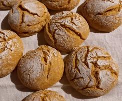 Pão de Abóbora  à Minha Moda - Massa Mãe