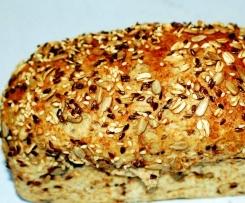 Pão integral com sementes c/ fermento fresco