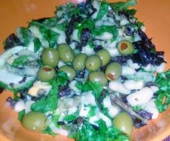 Salada de feijão branco com anchovas