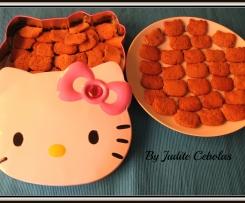 Bolachinhas Kitty de chocolate