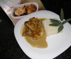 Frango Satay com arroz de jasmim