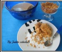 Doce de leite condensado com praliné de amendoim