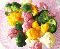 Bacalhau com natas, couve-flor e brócolos