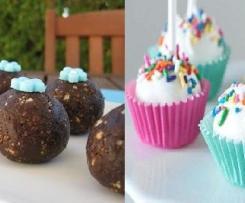 Bolinhas e Cake Pops de Salame de Chocolate