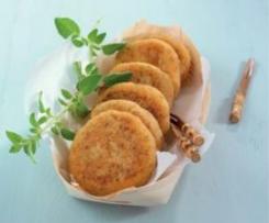 Hambúrgueres de couve-flor e queijo