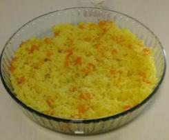 Arroz de açafrão com cenoura