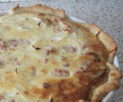 Quiche de frango e bacon