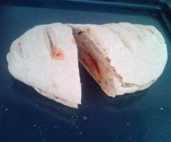 Pão caseiro com chouriço