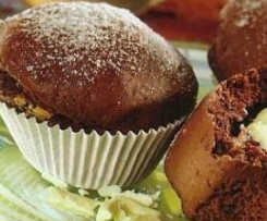 Muffins com Recheio de Chocolate Branco