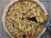 Tarte de queijo azul, pêra e nozes