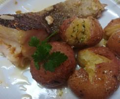 Bacalhau à Lagareiro com batata a murro