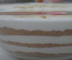Serradura de Iogurte e Pera