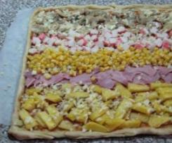 Pizza com massa fininha