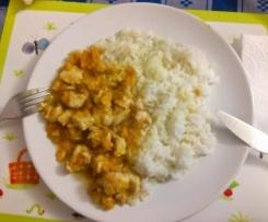 Peito de frango e arroz seco