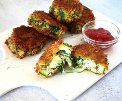 Panadinhos de courgette com espinafres e queijo creme