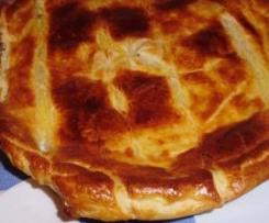 Pie de frango e alho francês