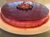 Cheesecake fit com frutos vermelhos