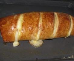 Pão recheado com fiambre e queijo