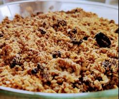 Crumble Maça Low Carb
