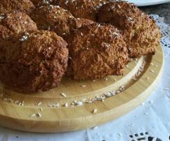 Cookies de aveia, cacau e coco