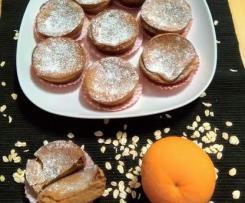 Queijadas de queijo quark e laranja