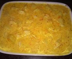 Guisado de frango cremoso com mostarda