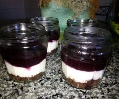 Frasquinhos cheesecake