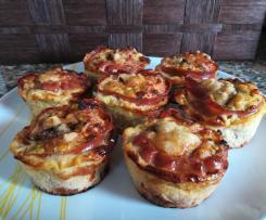 Muffins de Legumes com Presunto e Cogumelos