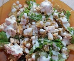 Salada de peru com molho de Iogurte