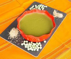 Creme de ervilhas com quinoa