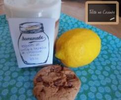 iogurtes de limão e bolacha de chocolate
