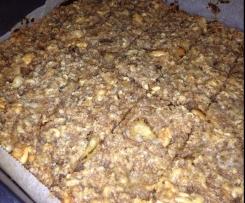 Barras de cereais de maçã, noz e amendoins