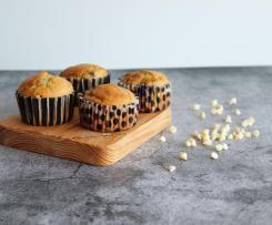 Muffins de Mirtilos com Chocolate Branco