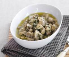 Cogumelos com molho