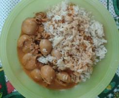 Variante de Lulas com arroz a vapor