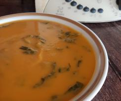 Sopa de Batata Doce e Agrião