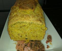 Pão integral de cenoura e sementes