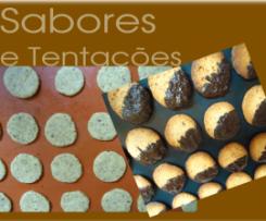 Bolachinhas de avelã com chocolate
