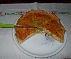 Tarte de legumes e delicias do mar