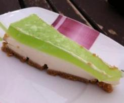 Cheesecake com gelatina de Maçã