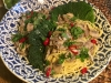 Esparguete com molho de cogumelos shiitake e peperoncino