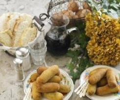 Croquetes de bacalhau com azeitonas