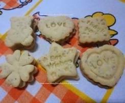 Biscoitos de manteiga e limão com sementes de papoila